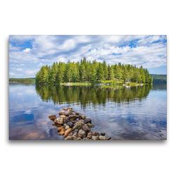 Premium Textil-Leinwand 75 x 50 cm Quer-Format Schwedischer Sommer in Värmland | Wandbild, HD-Bild auf Keilrahmen, Fertigbild auf hochwertigem Vlies, Leinwanddruck von Daniel Burdach