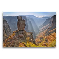 Premium Textil-Leinwand 75 x 50 cm Quer-Format Semonkong, Lesotho, Südafrika | Wandbild, HD-Bild auf Keilrahmen, Fertigbild auf hochwertigem Vlies, Leinwanddruck von Christian Heeb