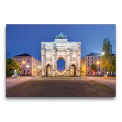 Premium Textil-Leinwand 75 x 50 cm Quer-Format Siegestor in München | Wandbild, HD-Bild auf Keilrahmen, Fertigbild auf hochwertigem Vlies, Leinwanddruck von Michael Valjak