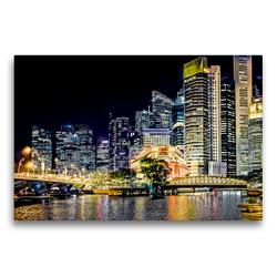 Premium Textil-Leinwand 75 x 50 cm Quer-Format Singapur – Asiatische Lifestyle Metropole | Wandbild, HD-Bild auf Keilrahmen, Fertigbild auf hochwertigem Vlies, Leinwanddruck von Dieter Meyer
