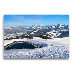Premium Textil-Leinwand 75 x 50 cm Quer-Format Skigebiet Hartkaiser am Wilden Kaiser | Wandbild, HD-Bild auf Keilrahmen, Fertigbild auf hochwertigem Vlies, Leinwanddruck von SusaZoom
