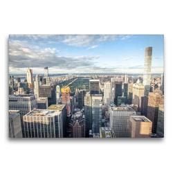 Premium Textil-Leinwand 75 x 50 cm Quer-Format Skyline Upper Manhattan | Wandbild, HD-Bild auf Keilrahmen, Fertigbild auf hochwertigem Vlies, Leinwanddruck von Philipp Blaschke