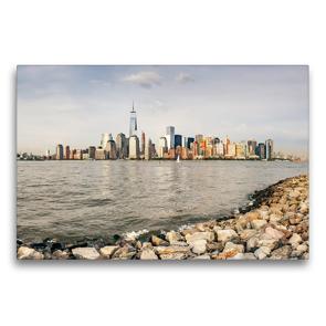 Premium Textil-Leinwand 75 x 50 cm Quer-Format Skyline von New York | Wandbild, HD-Bild auf Keilrahmen, Fertigbild auf hochwertigem Vlies, Leinwanddruck von Markus Gann