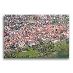 Premium Textil-Leinwand 75 x 50 cm Quer-Format Stadtzentrum Jüterbog (Luftbild) | Wandbild, HD-Bild auf Keilrahmen, Fertigbild auf hochwertigem Vlies, Leinwanddruck von Mario Hagen