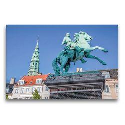 Premium Textil-Leinwand 75 x 50 cm Quer-Format Statue von Absalon auf dem Hojbro Platz   Wandbild, HD-Bild auf Keilrahmen, Fertigbild auf hochwertigem Vlies, Leinwanddruck von Christian Müringer