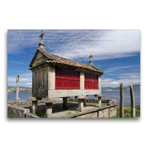 Premium Textil-Leinwand 75 x 50 cm Quer-Format Steinspeicher in Combarro   Wandbild, HD-Bild auf Keilrahmen, Fertigbild auf hochwertigem Vlies, Leinwanddruck von Andreas Schön