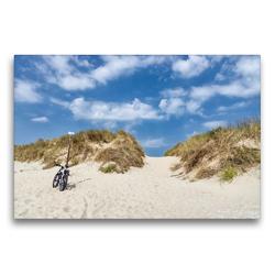 Premium Textil-Leinwand 75 x 50 cm Quer-Format Strandweg | Wandbild, HD-Bild auf Keilrahmen, Fertigbild auf hochwertigem Vlies, Leinwanddruck von Andreas Klesse