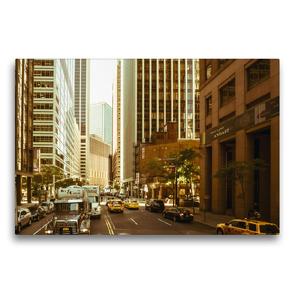 Premium Textil-Leinwand 75 x 50 cm Quer-Format Straßenschluchten in Manhattan | Wandbild, HD-Bild auf Keilrahmen, Fertigbild auf hochwertigem Vlies, Leinwanddruck von Michael Ermel