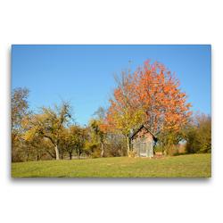 Premium Textil-Leinwand 75 x 50 cm Quer-Format Streuobstwiesen | Wandbild, HD-Bild auf Keilrahmen, Fertigbild auf hochwertigem Vlies, Leinwanddruck von GUGIGEI