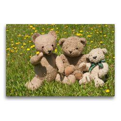 Premium Textil-Leinwand 75 x 50 cm Quer-Format Teddy Freundschaft | Wandbild, HD-Bild auf Keilrahmen, Fertigbild auf hochwertigem Vlies, Leinwanddruck von Meike Bölts