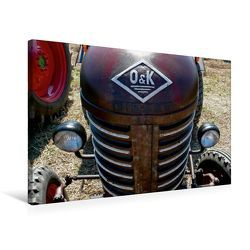 Premium Textil-Leinwand 75 x 50 cm Quer-Format Traktoren kraftvolle Freunde | Wandbild, HD-Bild auf Keilrahmen, Fertigbild auf hochwertigem Vlies, Leinwanddruck von Ingo Laue von Laue,  Ingo