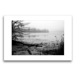 Premium Textil-Leinwand 75 x 50 cm Quer-Format Ufervegetation | Wandbild, HD-Bild auf Keilrahmen, Fertigbild auf hochwertigem Vlies, Leinwanddruck von Martina Marten