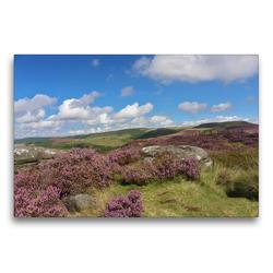 Premium Textil-Leinwand 75 x 50 cm Quer-Format Unterwegs im Peak District | Wandbild, HD-Bild auf Keilrahmen, Fertigbild auf hochwertigem Vlies, Leinwanddruck von Nina Zühlke