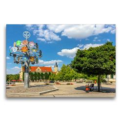 Premium Textil-Leinwand 75 x 50 cm Quer-Format Unterwegs in Riesa   Wandbild, HD-Bild auf Keilrahmen, Fertigbild auf hochwertigem Vlies, Leinwanddruck von Birgit Seifert