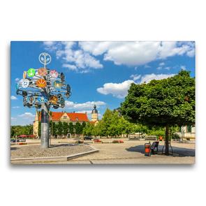 Premium Textil-Leinwand 75 x 50 cm Quer-Format Unterwegs in Riesa | Wandbild, HD-Bild auf Keilrahmen, Fertigbild auf hochwertigem Vlies, Leinwanddruck von Birgit Seifert