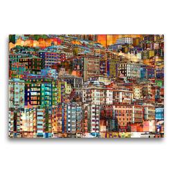 Premium Textil-Leinwand 75 x 50 cm Quer-Format Urbanes mal anders | Wandbild, HD-Bild auf Keilrahmen, Fertigbild auf hochwertigem Vlies, Leinwanddruck von Anne Madalinski