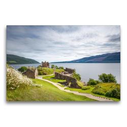 Premium Textil-Leinwand 75 x 50 cm Quer-Format Urquhart Castle, Loch Ness   Wandbild, HD-Bild auf Keilrahmen, Fertigbild auf hochwertigem Vlies, Leinwanddruck von Harald Schnitzler