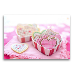 Premium Textil-Leinwand 75 x 50 cm Quer-Format Valentinsherzen müssen sein! | Wandbild, HD-Bild auf Keilrahmen, Fertigbild auf hochwertigem Vlies, Leinwanddruck von Rose Hurley