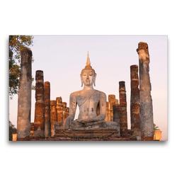 Premium Textil-Leinwand 75 x 50 cm Quer-Format Wat Mahathat, Sukhothai Historical Park, Thailand | Wandbild, HD-Bild auf Keilrahmen, Fertigbild auf hochwertigem Vlies, Leinwanddruck von Christian Heeb