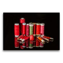 Premium Textil-Leinwand 75 x 50 cm Quer-Format Weihnachtsfäden. | Wandbild, HD-Bild auf Keilrahmen, Fertigbild auf hochwertigem Vlies, Leinwanddruck von Britta Kromand