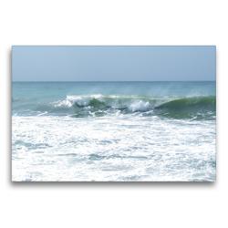 Premium Textil-Leinwand 75 x 50 cm Quer-Format Wellengang   Wandbild, HD-Bild auf Keilrahmen, Fertigbild auf hochwertigem Vlies, Leinwanddruck von Youlia