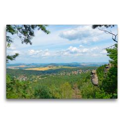 Premium Textil-Leinwand 75 x 50 cm Quer-Format Wie der Fels in der Landschaft | Wandbild, HD-Bild auf Keilrahmen, Fertigbild auf hochwertigem Vlies, Leinwanddruck von Fotografin Renate