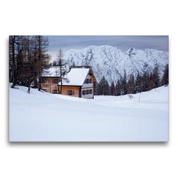Premium Textil-Leinwand 75 x 50 cm Quer-Format Winteridyll | Wandbild, HD-Bild auf Keilrahmen, Fertigbild auf hochwertigem Vlies, Leinwanddruck von Matthias Schaefgen