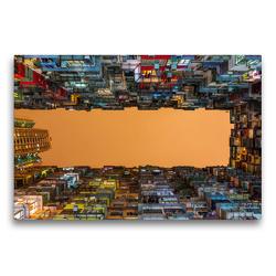 Premium Textil-Leinwand 75 x 50 cm Quer-Format Wohnkomplexe in Causeway Bay | Wandbild, HD-Bild auf Keilrahmen, Fertigbild auf hochwertigem Vlies, Leinwanddruck von N N