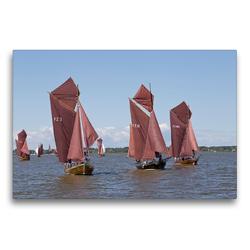 Premium Textil-Leinwand 75 x 50 cm Quer-Format Zeesenbootregatta   Wandbild, HD-Bild auf Keilrahmen, Fertigbild auf hochwertigem Vlies, Leinwanddruck von N N