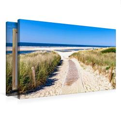 Premium Textil-Leinwand 750 x 500 cm Quer-Format Langeoog – Strandweg | Wandbild, HD-Bild auf Keilrahmen, Fertigbild auf hochwertigem Vlies, Leinwanddruck von Andrea Dreegmeyer