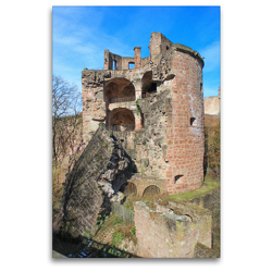 Premium Textil-Leinwand 80 x 120 cm Hoch-Format Apothekerturm Heidelberger Schloss | Wandbild, HD-Bild auf Keilrahmen, Fertigbild auf hochwertigem Vlies, Leinwanddruck von pixs:sell