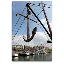 Premium Textil-Leinwand 80 x 120 cm Hoch-Format Bootsanker im Hafen | Wandbild, HD-Bild auf Keilrahmen, Fertigbild auf hochwertigem Vlies, Leinwanddruck von Susanne Herppich