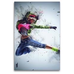 Premium Textil-Leinwand 80 x 120 cm Hoch-Format Dancing Queen – Street Dance | Wandbild, HD-Bild auf Keilrahmen, Fertigbild auf hochwertigem Vlies, Leinwanddruck von Renate Bleicher