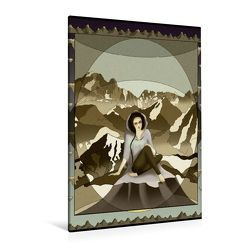 Premium Textil-Leinwand 80 x 120 cm Hoch-Format Die Alpen   Wandbild, HD-Bild auf Keilrahmen, Fertigbild auf hochwertigem Vlies, Leinwanddruck von Irene Repp von Repp,  Irene