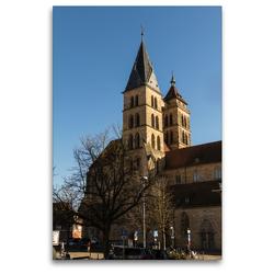 Premium Textil-Leinwand 80 x 120 cm Hoch-Format Esslingen am Neckar   Wandbild, HD-Bild auf Keilrahmen, Fertigbild auf hochwertigem Vlies, Leinwanddruck von Horst Eisele