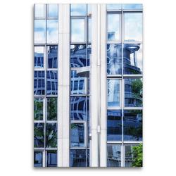 Premium Textil-Leinwand 80 x 120 cm Hoch-Format Frankfurts Architekturen – Spiegelbilder der Bürostadt Niederrad | Wandbild, HD-Bild auf Keilrahmen, Fertigbild auf hochwertigem Vlies, Leinwanddruck von N N