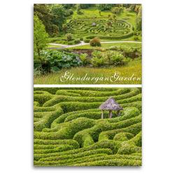 Premium Textil-Leinwand 80 x 120 cm Hoch-Format Garten-Labyrinth Glendurgan Garden in Cornwall, England | Wandbild, HD-Bild auf Keilrahmen, Fertigbild auf hochwertigem Vlies, Leinwanddruck von Christian Müringer