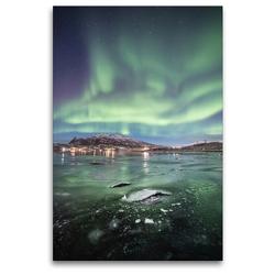 Premium Textil-Leinwand 80 x 120 cm Hoch-Format Kjosen, Kvaløya | Wandbild, HD-Bild auf Keilrahmen, Fertigbild auf hochwertigem Vlies, Leinwanddruck von Sebastian Worm