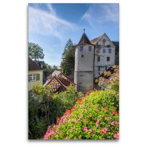 Premium Textil-Leinwand 80 x 120 cm Hoch-Format MEERSBURG Idyllische Altstadt am Bodensee | Wandbild, HD-Bild auf Keilrahmen, Fertigbild auf hochwertigem Vlies, Leinwanddruck von Melanie Viola