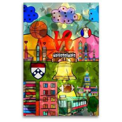 Premium Textil-Leinwand 80 x 120 cm Hoch-Format Philadelphia | Wandbild, HD-Bild auf Keilrahmen, Fertigbild auf hochwertigem Vlies, Leinwanddruck von Nico Bielow