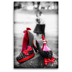 Premium Textil-Leinwand 80 x 120 cm Hoch-Format Rockabilly pur | Wandbild, HD-Bild auf Keilrahmen, Fertigbild auf hochwertigem Vlies, Leinwanddruck von Janita Webeler