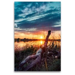 Premium Textil-Leinwand 80 x 120 cm Hoch-Format Sommerabende | Wandbild, HD-Bild auf Keilrahmen, Fertigbild auf hochwertigem Vlies, Leinwanddruck von Joseph Schulze
