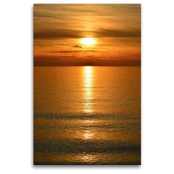Premium Textil-Leinwand 80 x 120 cm Hoch-Format Sonnenuntergang | Wandbild, HD-Bild auf Keilrahmen, Fertigbild auf hochwertigem Vlies, Leinwanddruck von Susanne Herppich
