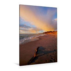 Premium Textil-Leinwand 80 x 120 cm Hoch-Format Strandspaziergang | Wandbild, HD-Bild auf Keilrahmen, Fertigbild auf hochwertigem Vlies, Leinwanddruck von Anette/Thomas Jäger