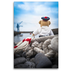 Premium Textil-Leinwand 80 x 120 cm Hoch-Format Teddybären Abenteuer – Zu Hause und Unterwegs | Wandbild, HD-Bild auf Keilrahmen, Fertigbild auf hochwertigem Vlies, Leinwanddruck von 75tiks