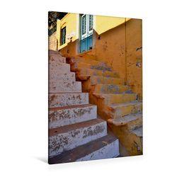 Premium Textil-Leinwand 80 x 120 cm Hoch-Format Treppen auf Rhodos | Wandbild, HD-Bild auf Keilrahmen, Fertigbild auf hochwertigem Vlies, Leinwanddruck von Ingo Laue von Laue,  Ingo