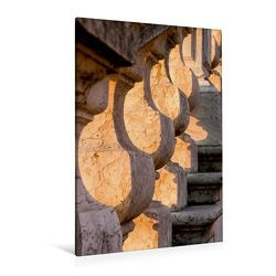 Premium Textil-Leinwand 80 x 120 cm Hoch-Format Treppenaufgang im Morgenlicht | Wandbild, HD-Bild auf Keilrahmen, Fertigbild auf hochwertigem Vlies, Leinwanddruck von Thomas Jäger