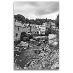 Premium Textil-Leinwand 80 x 120 cm Hoch-Format Wassermühle in Pont-Aven | Wandbild, HD-Bild auf Keilrahmen, Fertigbild auf hochwertigem Vlies, Leinwanddruck von Andreas Pidde