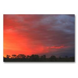 Premium Textil-Leinwand 90 x 60 cm Quer-Format Abendstimmung nahe der Etosha-Pfanne, Namibia | Wandbild, HD-Bild auf Keilrahmen, Fertigbild auf hochwertigem Vlies, Leinwanddruck von Dr. Werner Altner