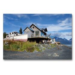 Premium Textil-Leinwand 90 x 60 cm Quer-Format Alaskas kurzer Herbst | Wandbild, HD-Bild auf Keilrahmen, Fertigbild auf hochwertigem Vlies, Leinwanddruck von Flori0